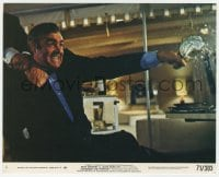 7h011 DIAMONDS ARE FOREVER 8x10 mini LC #1 1971 Sean Connery as James Bond attacked from behind!