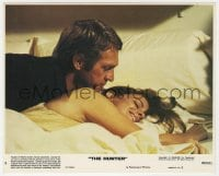 7h016 HUNTER 8x10 mini LC #5 1980 close up of Steve McQueen in bed with sexy Kathryn Harrold!