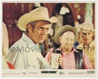 7h018 JUNIOR BONNER 8x10 mini LC #5 1972 c/u of rodeo cowboy Steve McQueen holding a beer!