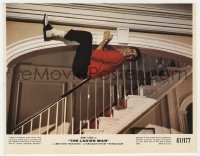 7h020 LADIES MAN color 7.75x10 still 1961 wacky scared Jerry Lewis clinging to the ceiling!