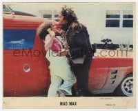 7h023 MAD MAX color 8x10 still #4 1979 Joanne Samuels knees Hugh Keays-Byrne in the groin!