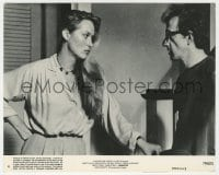 7h025 MANHATTAN 8x10 mini LC #4 1979 close up of Meryl Streep glaring at Woody Allen!