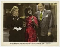 7h027 MINSTREL MAN color 8x10.25 still 1944 Benny Fields & Gladys George w/Judy Clark in blackface!