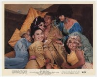 7h029 OUR MAN FLINT color 8x10 still 1966 James Coburn surrounded by sexy girls, James Bond spoof!