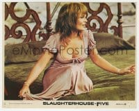 7h031 SLAUGHTERHOUSE FIVE 8x10 mini LC #2 1972 close up of sexy Valerie Perrine on bed, Vonnegut!