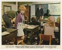 7h041 TO SIR, WITH LOVE color 8x10 still 1967 teacher Sidney Poitier watching Lulu  & kids in class!