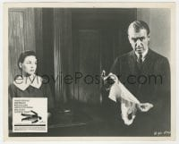 7h073 ANATOMY OF A MURDER English FOH LC 1959 James Stewart shows Kathryn Grant lace undergarments!