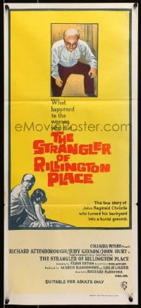 7j003 10 RILLINGTON PLACE Aust daybill 1971 The Strangler of Rillington Place, Christie sex-murders!