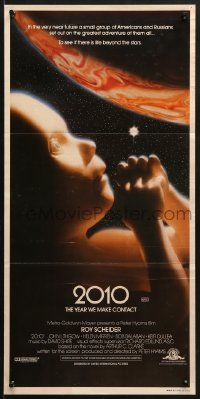 7j007 2010 Aust daybill 1984 sequel to 2001: A Space Odyssey, image of the starchild & Jupiter!