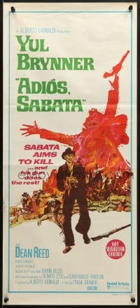 7j026 ADIOS SABATA Aust daybill 1971 Yul Brynner aims to kill, and his gun does the rest!