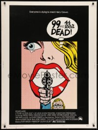7k016 99 & 44/100% DEAD style A 30x40 1974 directed by John Frankenheimer, wonderful pop art, rare!