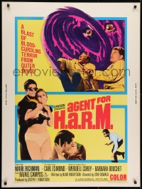 7k018 AGENT FOR H.A.R.M. 30x40 1966 Mark Richman, Wendell Corey, sexy Barbara Bouchet!