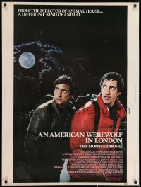7k020 AMERICAN WEREWOLF IN LONDON 30x40 1981 David Naughton, Agutter, Dunne, John Landis!