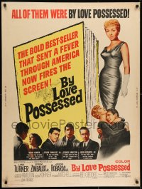 7k034 BY LOVE POSSESSED 30x40 1961 George Hamilton, Efrem Zimbalist Jr., Thomas Mitchell