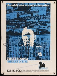 7k046 DETECTIVE 30x40 1968 Frank Sinatra as gritty New York City cop, an adult look at police!