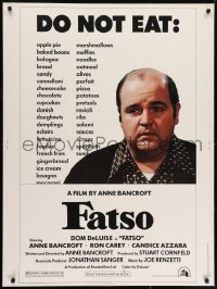7k054 FATSO 30x40 1980 Dom DeLuise goes on a diet, hilarious best image, directed by Anne Bancroft!