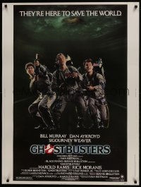 7k060 GHOSTBUSTERS 30x40 1984 Bill Murray, Aykroyd & Harold Ramis are here to save the world!
