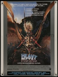 7k063 HEAVY METAL style A 30x40 1981 classic musical animation, sexy Chris Achilleos fantasy art!