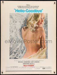 7k064 HELLO-GOODBYE 30x40 1970 Michael Crawford has been peeping at sexy Genevieve Gilles!