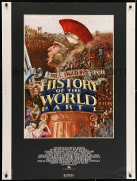 7k066 HISTORY OF THE WORLD PART I 30x40 1981 artwork of Roman soldier Mel Brooks by John Alvin!