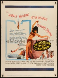 7k073 JOHN GOLDFARB, PLEASE COME HOME 30x40 1964 sexy image of dancer Shirley MacLaine!