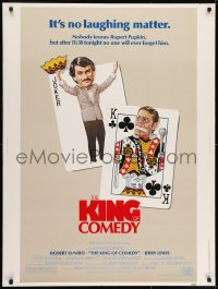 7k075 KING OF COMEDY 30x40 1983 Robert De Niro, Jerry Lewis, directed by Martin Scorsese!