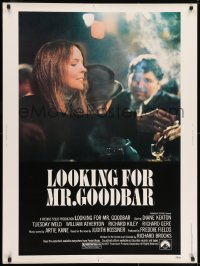 7k080 LOOKING FOR MR. GOODBAR 30x40 1977 close up of Diane Keaton, directed by Richard Brooks!