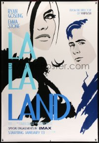 7k162 LA LA LAND IMAX DS bus stop 2016 completely different art of Ryan Gosling & Emma Stone!