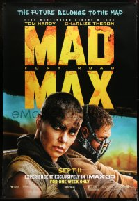 7k163 MAD MAX: FURY ROAD IMAX DS bus stop 2015 Tom Hardy in the title role, exclusive engagement!