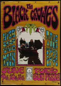 7k173 BLACK CROWES 38x54 commercial poster 1992 High as the Moon, cool art and image!