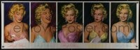 7k174 MARILYN MONROE 26x74 commercial poster 1987 five great portraits wearing colorful outfits!