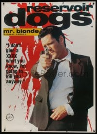 7k178 RESERVOIR DOGS 40x55 English commercial poster 1992 Quentin Tarantino, Madsen as Mr. White!