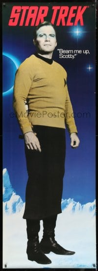 7k183 STAR TREK group of 2 26x74 commercial posters 1991 Captain Kirk and Mr. Spock on transporter!