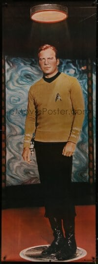 7k182 STAR TREK 26x72 commercial poster 1976 full-length James T. Kirk on transporter pad!