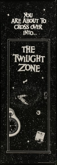 7k184 TWILIGHT ZONE 25x73 commercial poster 1989 Rod Serling series, cool image!