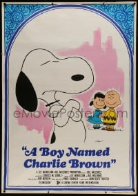 7k197 BOY NAMED CHARLIE BROWN Italian 1p 1970 different art of Charles Schulz's Snoopy & Peanuts!