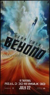 7k194 STAR TREK BEYOND DS 26x50 phone booth poster 2016 image of the Starship Enterprise in flight!