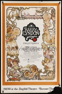 7k004 BARRY LYNDON half subway 1975 Stanley Kubrick, Ryan O'Neal, historical romantic war melodrama