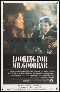 7k007 LOOKING FOR MR. GOODBAR half subway 1977 close up of Diane Keaton, Richard Brooks directed!