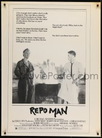 7k008 REPO MAN half subway 1984 Estevez & Stanton take cars from deadbeats who don't pay!