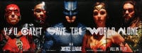 7k189 JUSTICE LEAGUE set of 4 special wilding posters 2017 close-up, Gadot, Affleck, ultra rare!