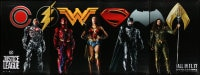 7k190 JUSTICE LEAGUE set of 4 special wilding posters 2017 full-length Gadot, Affleck, ultra rare!