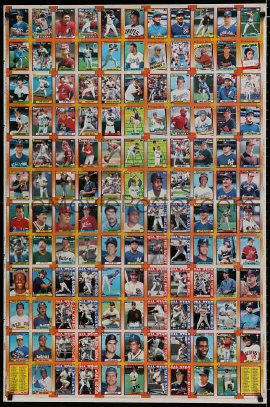 Emoviepostercom 7r153 Topps 1990 Baseball Cards 2 Sided 29x43