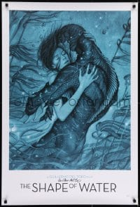 7s001 SHAPE OF WATER signed heavy stock 27x40 special poster 2017 by Guillermo del Toro, Jean art!