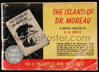 7w227 ISLAND OF DR. MOREAU Armed Services edition softcover book 1940s the H.G. Wells novel!