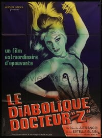 7y681 DIABOLICAL DR Z French 1p 1966 directed by Jess Franco, great close up art of sexy blonde!
