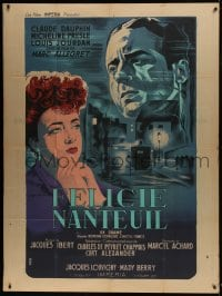7y715 FELICIE NANTEUIL French 1p 1945 Marc Allegret, Noel art of Daupin & Micheline Presle, rare!