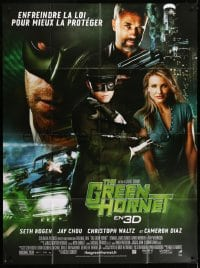 7y748 GREEN HORNET DS French 1p 2011 Seth Rogen, Cameron Diaz, Jay Chou as Kato, Christopher Waltz