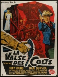 7y753 HE RIDES TALL French 1p 1964 great different western gunfight art by Guy Gerard Noel!