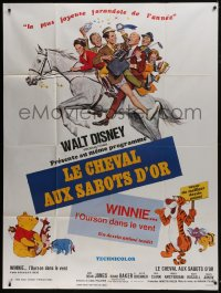 7y759 HORSE IN THE GRAY FLANNEL SUIT/WINNIE THE POOH French 1p 1969 Walt Disney double-bill!